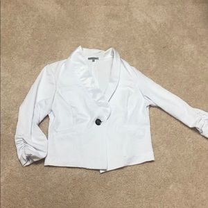 Bright white one button blazer